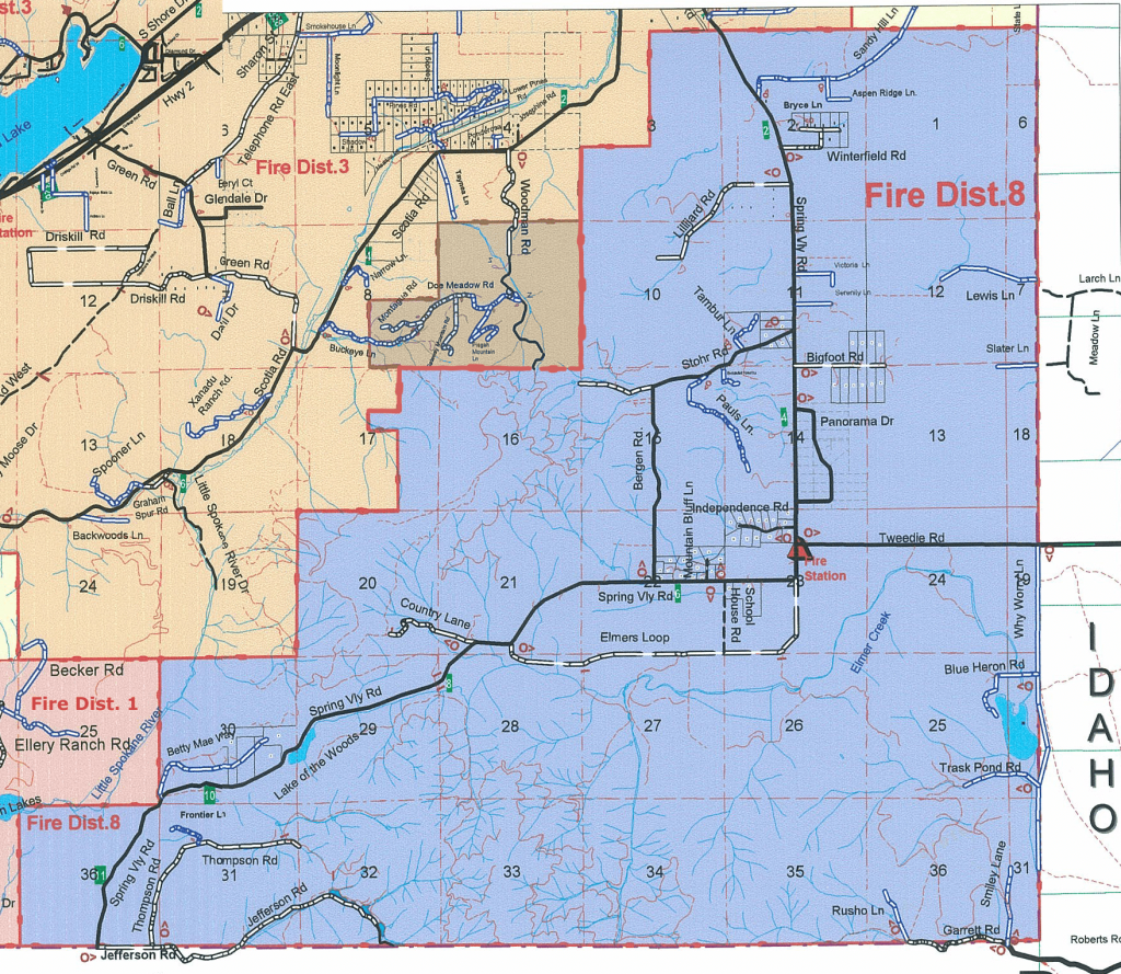 Pend Oreille County Fire District 8 Boundary Map