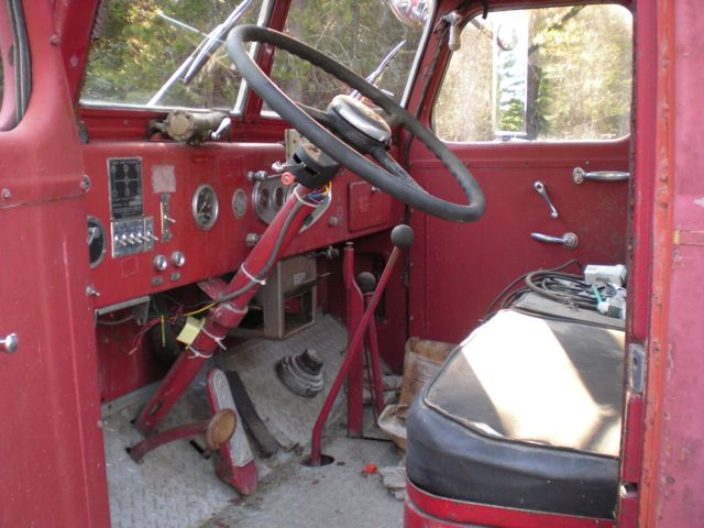 1959 Pirsch fire engine - interior